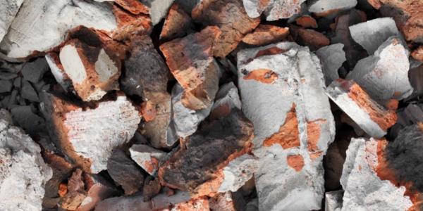 image of broken bricks