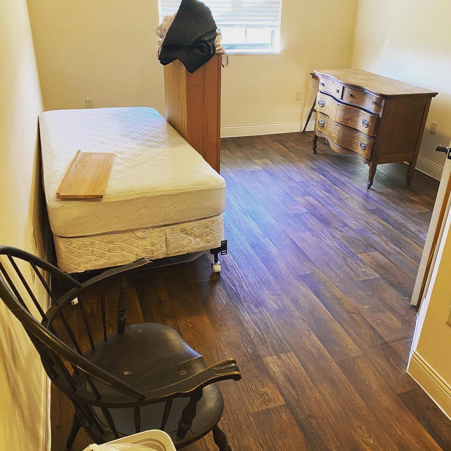 shows furniture about to be removed from home