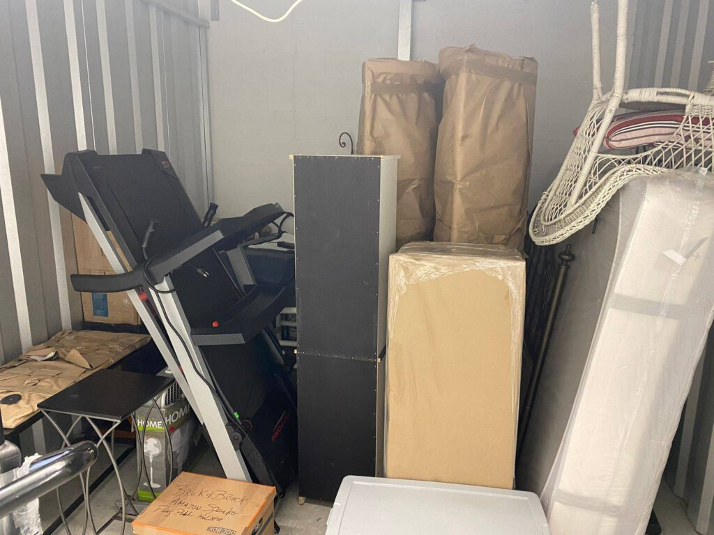 image of junk and old items in storage unit
